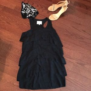 Madison Marcus Black Silk Dress Size 4